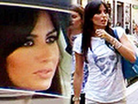 Elisabetta Gregoraci casual look per lo shopping