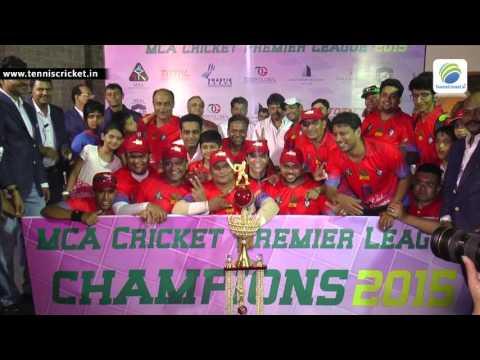 Winner Celebration of MCA Cricket Premier League -2015 , Kandivali