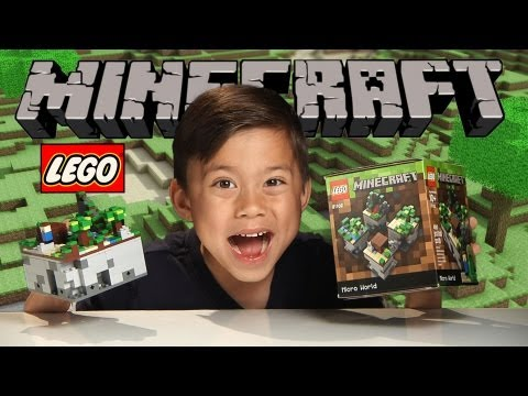 LEGO MINECRAFT Micro World!!!! Set 21102 Review. Unboxing. Time-lapse. Stop Motion 1080p HD