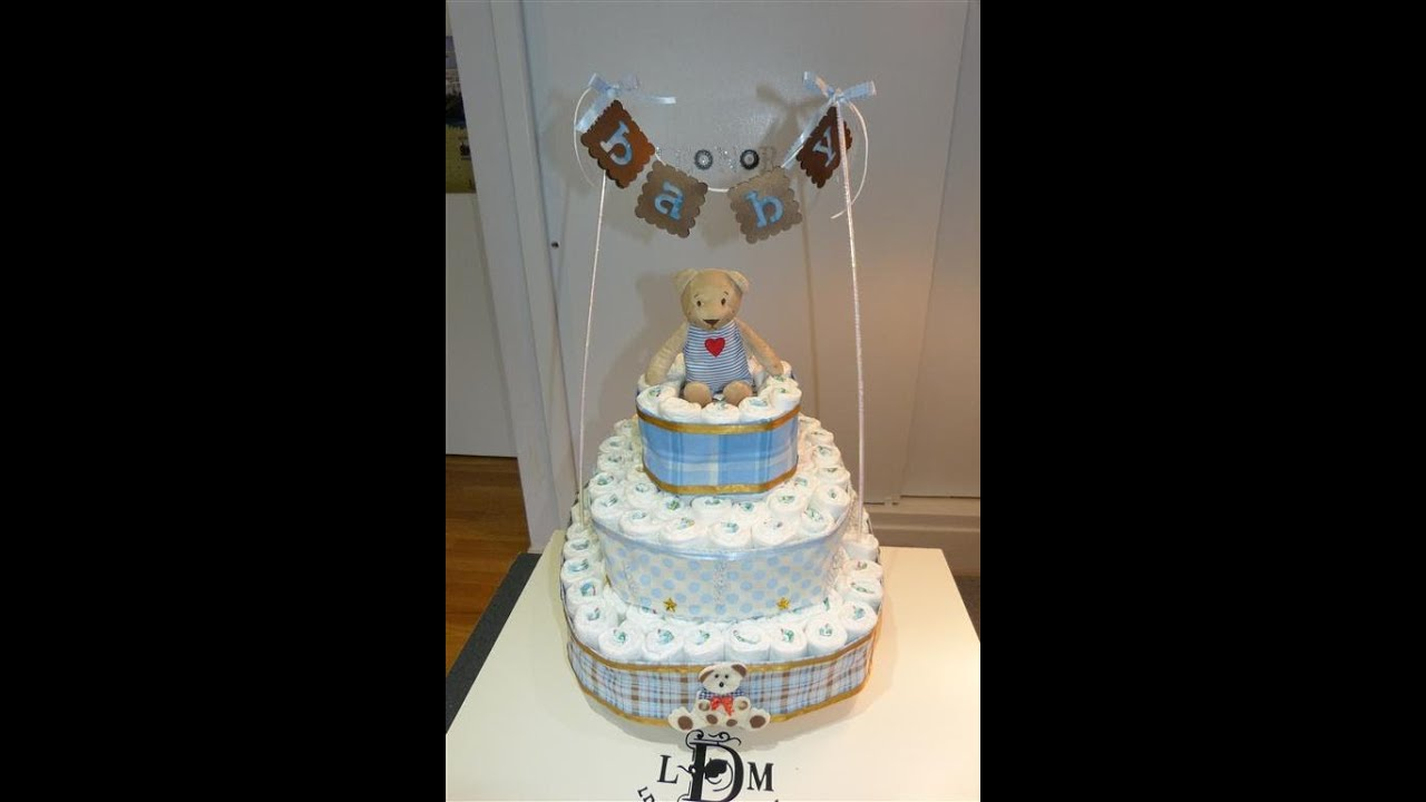 How To Make A Baby Diaper Cake Video
