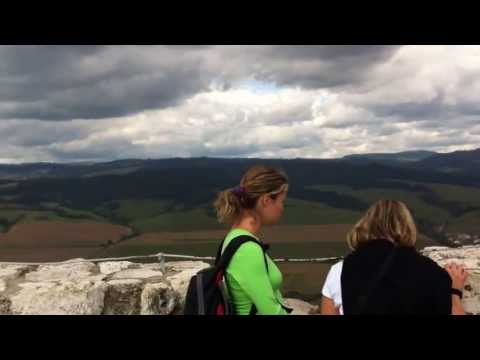 Panorama from the top of Spiš Castle, Slovakia