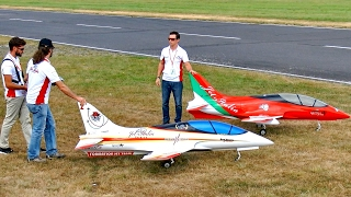 FORMATION JET TEAM 3 X SCALE RC TURBINE MODEL JET FLIGHT TO MUSIC AIRSHOW / Jetpower Fair 2016