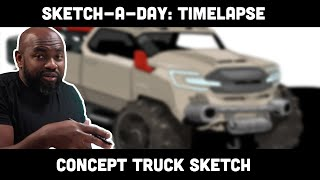 Sketch-A-Day: Truck Timelapse