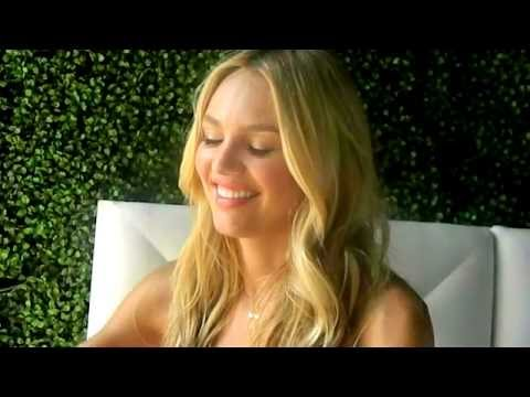 Candice Swanepoel Interview at Victoria's Secret Very Sexy Tour in Miami