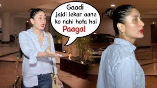 DRUNK Kareena Kapoor SHOUTS On Her Driver For Making Her Wait After Manish Malhotra's Party