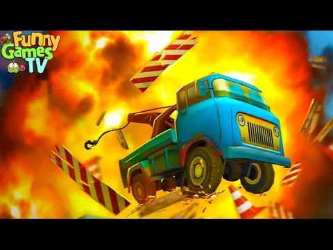 Игровой мультик про машинку грузовик машинка эвакуатор строим мост развивающее смешное детское видео