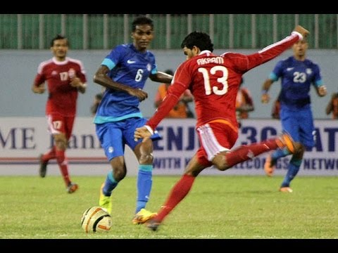 Maldives vs India (Highlights) - Semifinal 2, SAFF Championship 2013