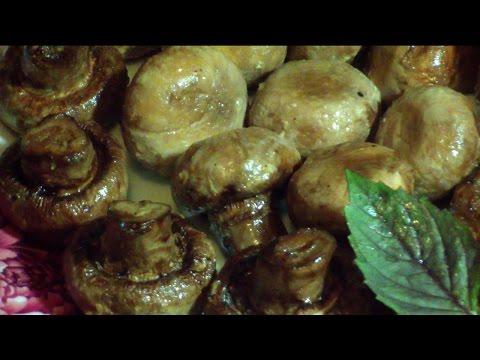 Грибы шампиньоны в духовке и на гриле. Простой, быстрый и вкусный рецепт.