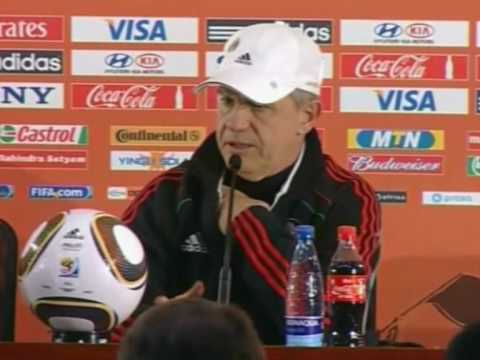 FIFA World Cup 2010 - Mexico coach Javier Aguirre on the France game and South Africa game