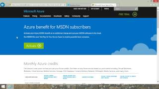 Sign Up for Microsoft Azure Free Trial