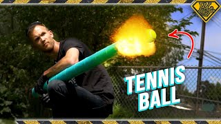 Tennis Ball CANNON from Soup Cans