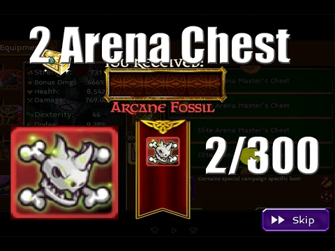 Arcane Legends| ARCANE FOSSIL OPEN IN 2 ARENA CHEST 2017