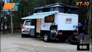 XT-10 Setup in 2min 30 sec - MDC Offroad Caravan (Market Direct Campers)