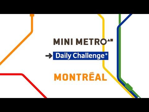 Mini Metro - Montréal(Daily Challenge) 2016-04-27