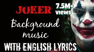 Joker BGM music full song | Indila - Dernière Danse | lyrics with English Translation HQ