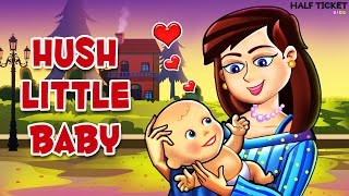 Hush Little Baby | Lullaby Song for babies with lyrics | Nursery Rhymes For Kids