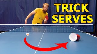 Table Tennis Spin Serves