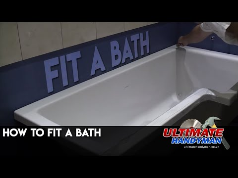 How to fit a bath