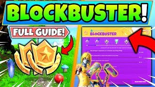 Fortnite BLOCKBUSTER CHALLENGES GUIDE! - Run Down Hero Mansion, Search Between (Fortnite Missions)