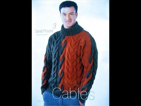 Вязаные мужские свитера своими руками 129