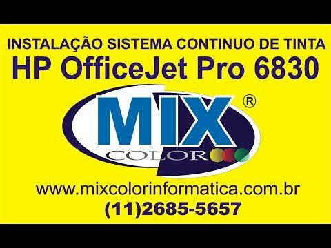 INSTALAÇÃO COMPLETA BULK INK HP PRO 6830
