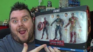 Marvel Legends Civil War 3 Pack  Spider-Man, Captain America, & Iron Man Action Figure Review
