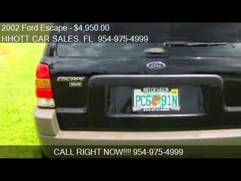 2002 Ford Escape XLS Value Choice 4WD 4dr SUV for sale in De