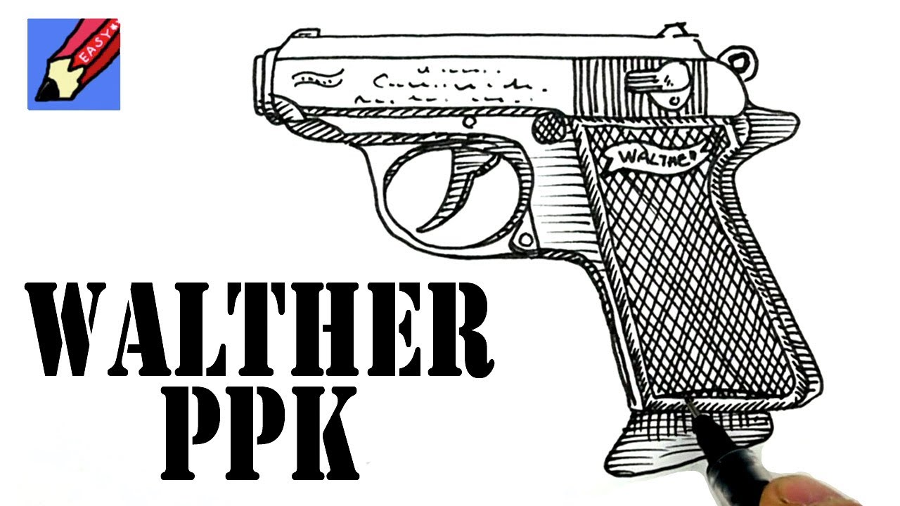 how to draw a walther ppk - james bond u0026 39 s gun