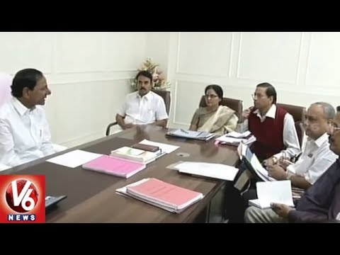 CM KCR Orders Officials To Complete Mission Bhagiratha Works Before Aug 15th | V6 News