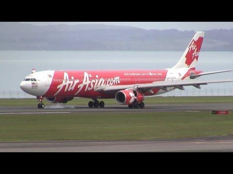 AirAsia X ► Airbus A330-300 ► Landing ✈ Auckland Airport