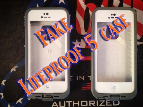 How to tell a fake lifeproof 5 case vs the authentic lifeproof 5 case