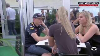 Olav Mol talks with Ted Kravitz about Max Verstappen and Lindsey Vonn USGP