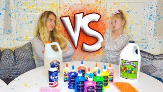 6 Year Old Everleigh VS. Professional Slime Maker!!! Who Can Make The BEST Slime?!
