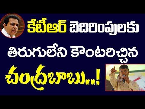 KTR కి తిరుగులేని కౌంటర్ ఇచ్చిన చంద్రబాబు! Chandrababu Counter To KTR Comments In Telangana Campaign