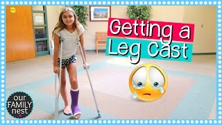 GETTING A LEG CAST FOR BROKEN FOOT | DANCE INJURY