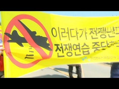 ABD ile ortak askeri tatbikata Güney Korelilerden tepki