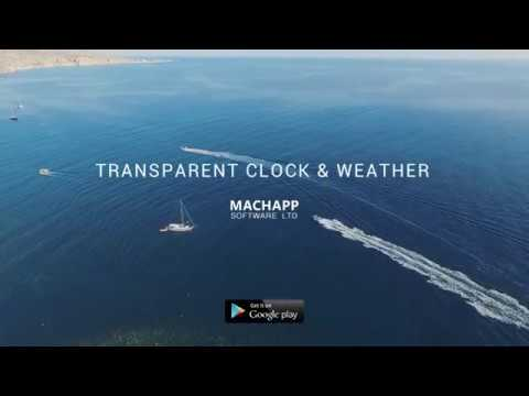 Transparent clock & weather APK Cover