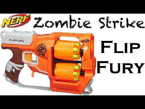 Nerf Zombie Strike FlipFury Unboxing and Review!