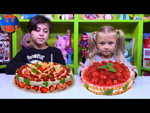 ТОРТ ЧЕЛЛЕНДЖ от Ярославы! ВЫЗОВ ПРИНЯТ! Видео для детей Сладкий Челлендж Cake Challenge