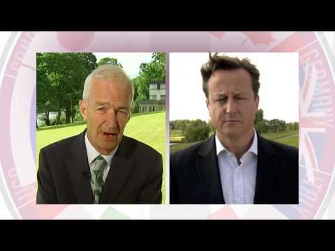 Jon Snow speaks to David Cameron