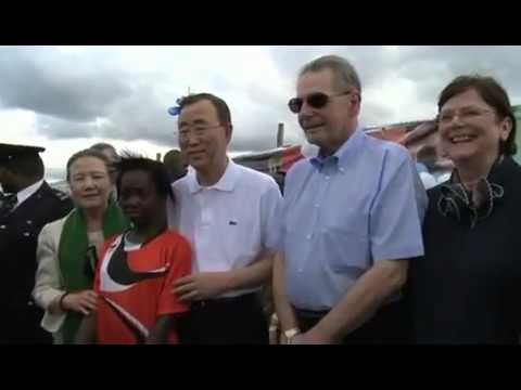 UN Secretary-General Visits Olympic Youth Centre in Lusaka, Zambia