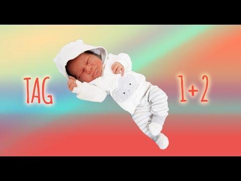 Tag & Nacht 1-2 nach der Geburt...