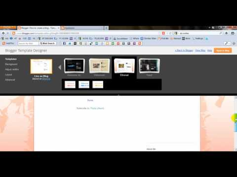How To Create A Blog With Google Blogger(Hindi)