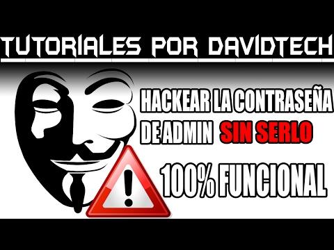 Hackear la contraseña de administrador (Sin serlo) - Por DavidTech