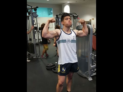 Singapore Armwrestling - Valen Low and Tay Jia Jun training at Republic Polytechnic