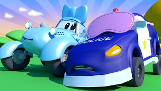 Baby Cars -  Blind MAN'S Bluff With The Baby Cars in Car City! - Cartoon For Kids - Car City !