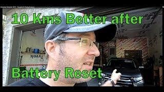 Mitsubishi Outlander PHEV - 10kms Better After Battery Reset