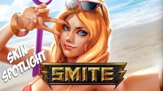 Smite - Skin Spotlights : Beach Babe Aphrodite  *Skin/Jokes/Taunts*