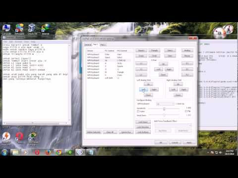 Tutorial Setting Controler Emulator PS2 pcsx2 0.9.8
