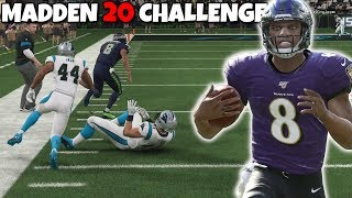 CAN I WIN A GAME DOING QB SCRAMBLE EVERY SINGLE PLAY?! MADDEN 20 CHALLENGE